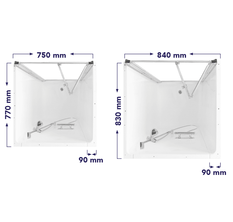Shower Pod Size Options